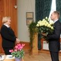 TMR direktore Anna Jurkāne un Krimuldas novada domes priekšsēdētājs Mārtiņš Ozoliņš