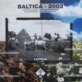 """Starptautiskā folkloras festivāla """"Baltica 2003"""" afiša. Autori M. Heimrāts, J. Murovskis. TMR 22660"""