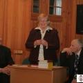 Turaidas muzejrezervāta atbalsta biedrības valde 2011. gada 9. janvārī: no kreisās - Juris Čivčs, valdes priekšsēdētāja Ilze Krastiņa un Aivars Janelsītis