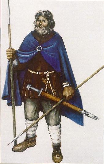 Lībiešu vīrieša apģērbs un ieroči. Rekonstrukcija