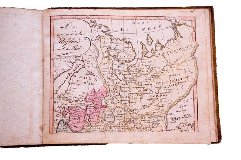 1812. gadā Vācijā Augsburgā izdots pasaules karšu atlass albūma iesējumā, TMR 24001