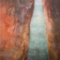 """Voldemārs Gudovskis """"Pētera miga"""". 2008. g. Akvarelis; 80x72. TMR 25029"""