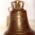 Zvans, atrasts Mālpils apkārtnē, uz tā iegravēts izgatavošanas gads: 1595. TMR 22823