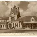 Siguldas dzelzceļa stacija atklāta 1925. gada 11. decembrī. Sagrauta 1944.gadā. Arhitekts P. Feders. Pastkarte. SM 432