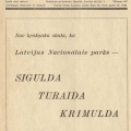 """Siguldas pilsētas valdes kūrorta komitejas izdotais žurnāls """"Gauja"""", N r. 3 /4, 1936. gada augusts/septembris. SM 2888"""