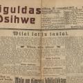 """Laikraksts """"Siguldas Dzīve"""", Nr. 1, 1927. gads. SM 6414"""