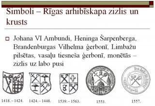 Simboli - Rīgas arhibīskapa zizlis un krusts