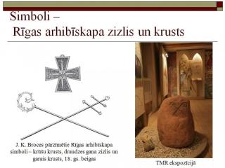Rīgas arhibīskapa zizlis un krusts