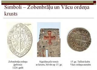 Simboli - Zobenbrāļu un Vācu ordeņa krusts