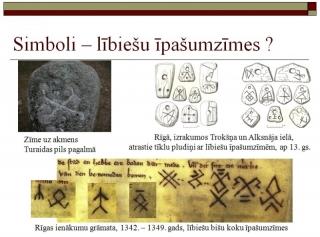 Simboli - lībiešu īpašumzīmes