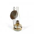Petrolejas lampa ar ažūru lampas stikla kupola turētāju, stiprināma pie sienas. SM 6768