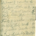 Lapa ar piezīmēm par 1867. gada februāra pasūtījumiem un cenām.