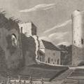 Pēc 1905.g. R.fon Leja Tallinā izdota pastkarte ar J.K.E. Ungerna Šternberga 1810. g. zīmēto Turaidas pilsdrupu kopskatu