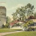 Pastkarte ar Turaidas pilsdrupu attēlu, ap 1909.g.