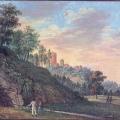 Turaidas pils un Gūtmaņa ala. Zīmējis G.G. Kīzerickis. 1813. g.