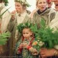 Ligo, midsummer celebration, in Turaida, Sigulda, Latvia.