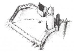 Турайдский замок. Первая половина XIII века. Реконструкция архитектора Г.Янсона