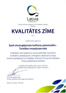 "The Latvian tourism quality sistem ""Q-Latvia. Tourism Quality"" award"