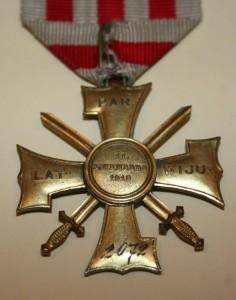 III šķiras Lāčplēša Kara ordenis Nr. 2072. Reverss