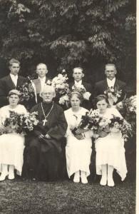 J. Graudoņa iesvētības Lazdonas pareizticīgo baznīcā. 1936. gada jūnijs