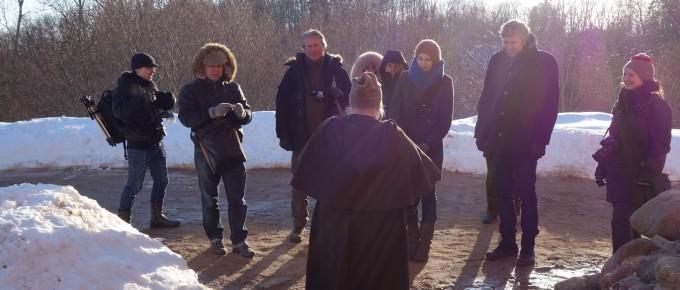 Lietuvas un Igaunijas žurnālisti ciemos pie Turaidas fogta
