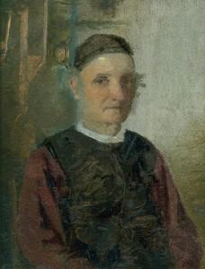 Turaidas muižas skroderis Dāvids Kušķis. Portrets tapis 19. gadsimta beigās. TMR 19159
