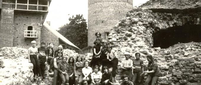 Turaidas pils arheoloģisko izrakumu dalībnieki. 1978. gads.