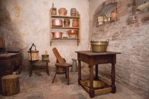 Turaidas muižas pārvaldnieka vecās dzīvojamās mājas iekšskats - manteļskurstenis