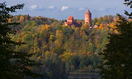 Autumn at Turaida Castle in the Gauja valley, Latvia. Photograph: Alamy. The Guardian, Saturday 21 September 2013