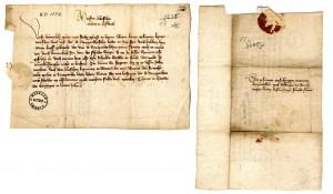Senākā mums zināmā Turaidā uz papīra rakstītā vēstule Tallinas pilsētas arhīvā. 1400.