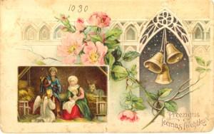 Ziemassvētku pastkarte no Turaidas muzejrezervāta krājuma