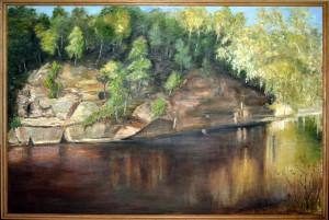 Velnala Siguldā. Vilija Jansone (1926-2013). 2007. Audekls, eļļa. 1,30m x 90 cm