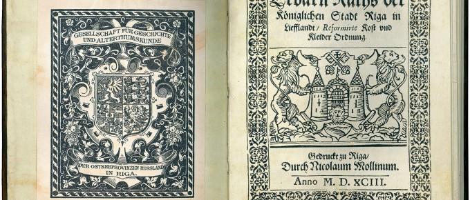 Grāmatas atvērums un titullapa