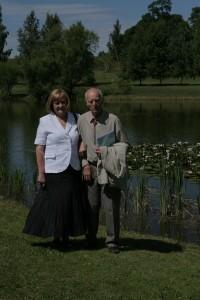 Turaidā 2008. gadā kopā ar muzejrezervāta direktori Annu Jurkāni