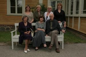 Kopā ar Turaidas muzejrezervāta darbiniekiem 2011. gadā