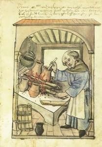Nirnbergas pavārs Vilhelms. Attēls no tirgotāja Konrāda Mendeļa 1425./26.g.  vestās mājas grāmatas ar attēliem