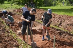 Arheoloģisko izrakumu laukums Turaida Jāņkalnā