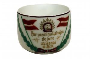 Piemiņas krūzīte. Porcelāns. 20.gs. 20-tie gadi