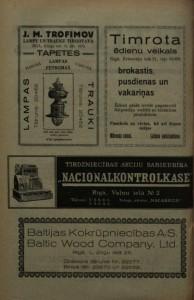 """J.M.Trofimova tirgotavas reklāma laikrakstā """"Pasta-Telegrāfa Dzīve"""", 01.09.1930."""