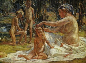 Janis Rozentals. Ģimene Siguldā. 1913