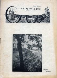 """Siguldas Kūrorta komitejas izdevums """"Gauja"""", 1936. gads. SM 2887"""