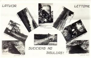 """Pastkarte """"Sveiciens no Siguldas"""". TMR 19740"""