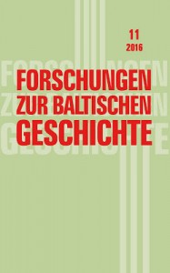 """Žurnāla """"Forschungen zur baltischen Geschichte"""" vāks"""