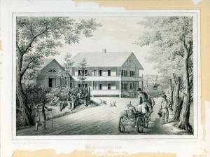 Turaidas Šveices māja 19. gadsimtā. T. H. Rikmaņa zīmējums
