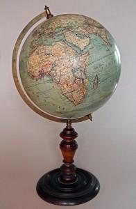 Globuss izgatavots starp 1890. un 1895. gadu Vācijā