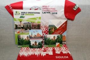 Pasaules čempionāta orientēšanās sportā informatīvie materiāli un sacensību vēstnešu T-krekls