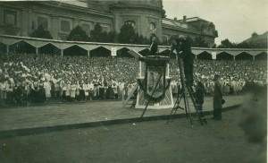 Dziesmu svētku dalībnieki. Foto bez datējuma