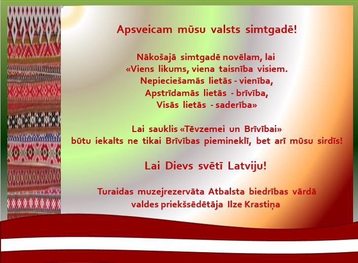 Apsveikums_Latvijas 100gadē