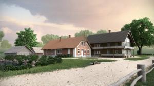 """Turaidas Šveices mājas kompleksa digitāla rekonstrukcija. SIA """"Ocean Group"""""""