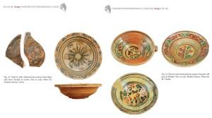 Attēls no A.Hēges publikācijas, kur attēloti keramikas atradumi Rīgā, Turaidā, Malmē (Zviedrija)